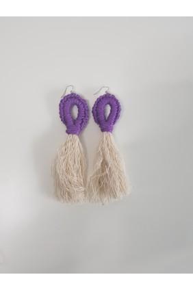 Oorbellen met tassels (paars)