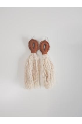 Oorbellen met tassels (bruin)