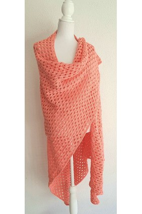 "Omslagdoek ""Peach"""